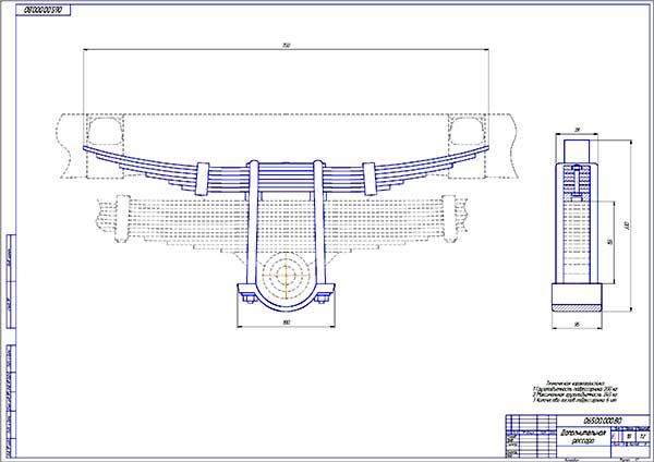 Дополнительная рессора модернизированной подвески УАЗ