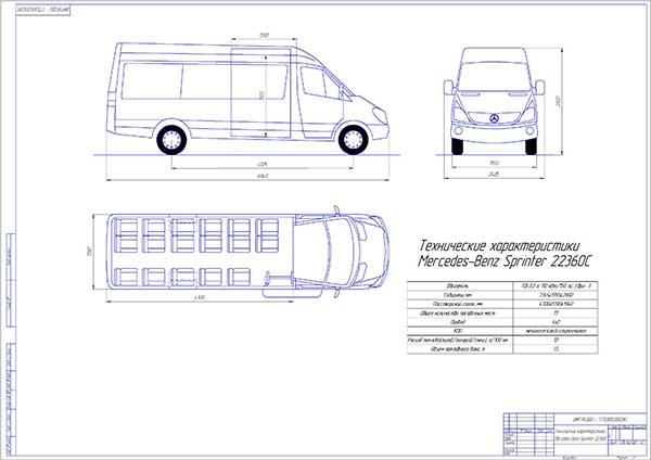 Технические характеристики Mercedes-Benz Sprinter 22360C