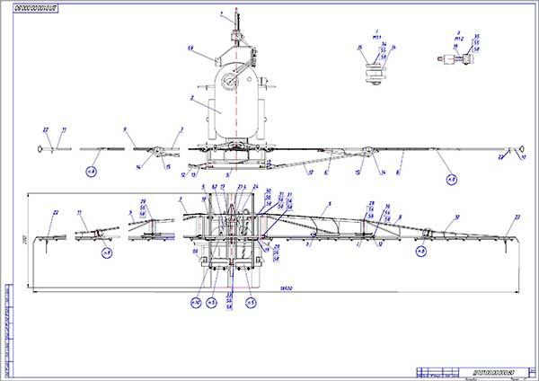 Модернизированный опрыскиватель удобрений Мекосан 2000-18 вид сверху