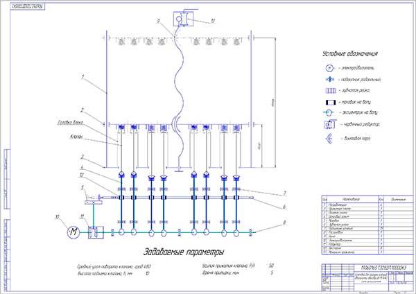 Принципиальная схема установки для притирки клапанов двигателей автобусов
