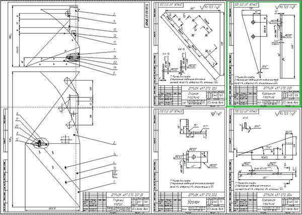 Сборочный чертеж плужного корпуса и деталировка
