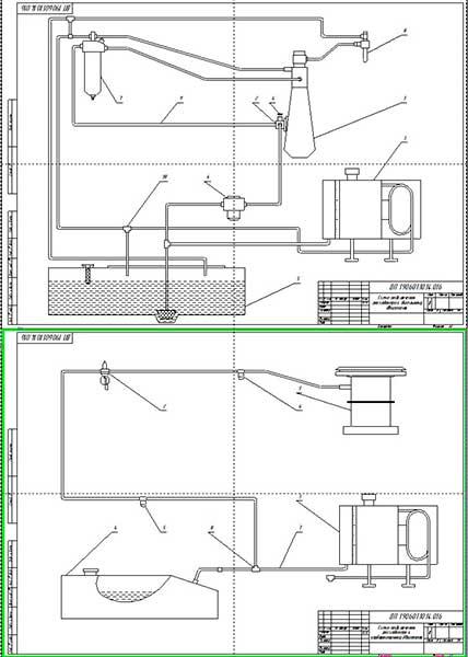 Схемы подключения расходомера к дизельному и бензиновому двигателей