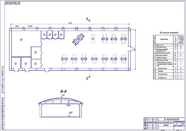 План производственного корпуса СТО