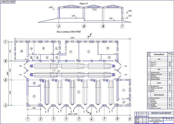 Планировка производственного корпуса