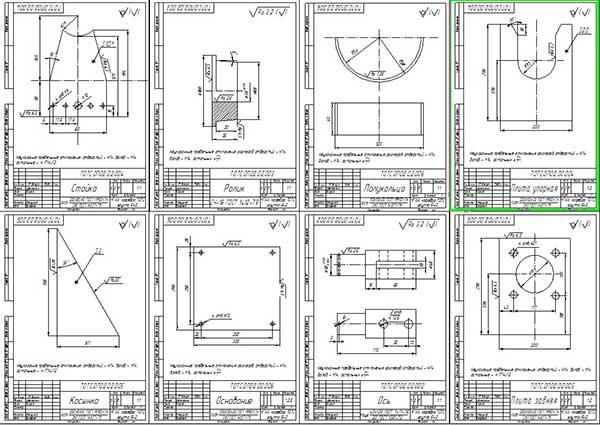 Деталировка стенда для разборки коленчатого вала двигателя