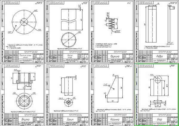 Деталировка стенда для разборки - сборки коробок передач