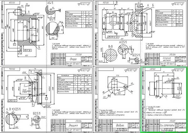 Деталировка стенда для проверки амортизаторов