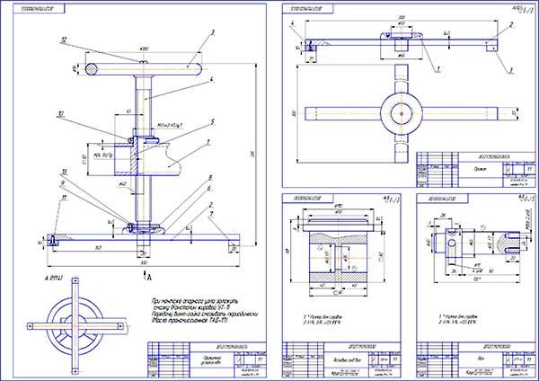Деталировка стенда испытания отремонтированных радиаторов