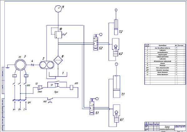 Электро-гидравлическая схема