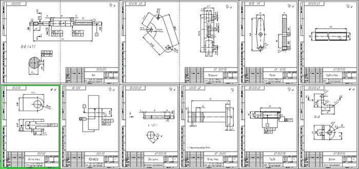 Детали приспособления, лист формата А0
