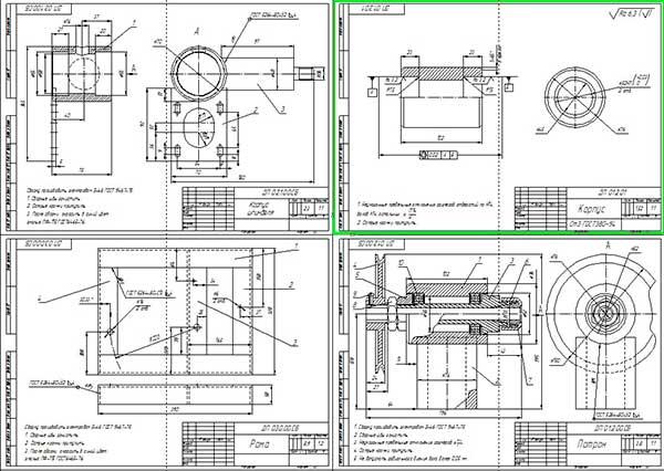 Сборочные чертежи узлов стенда для шлифования клапанов ГРМ
