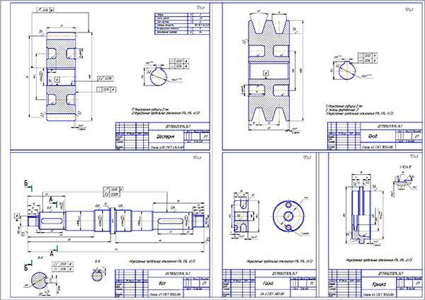 Деталировка стенда испытания компрессоров