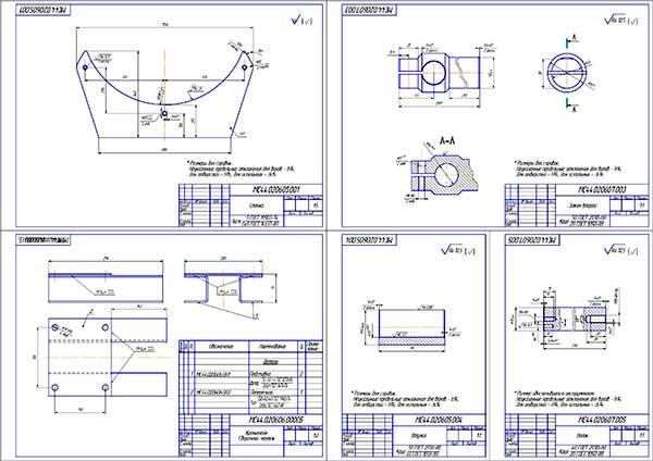 Детали конструкции стенда