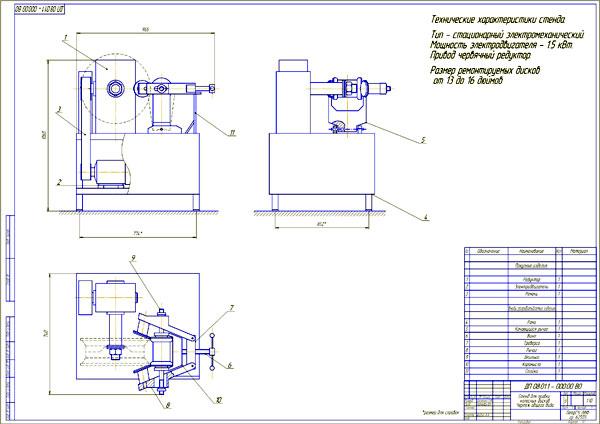 Разработка стенда для правки дисков колес
