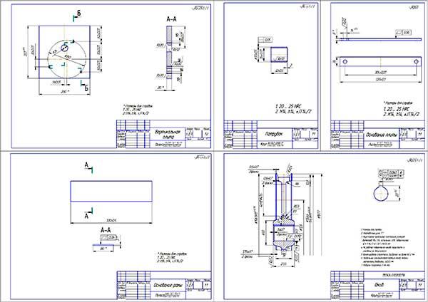 Деталировка установки для промывки масляных фильтров