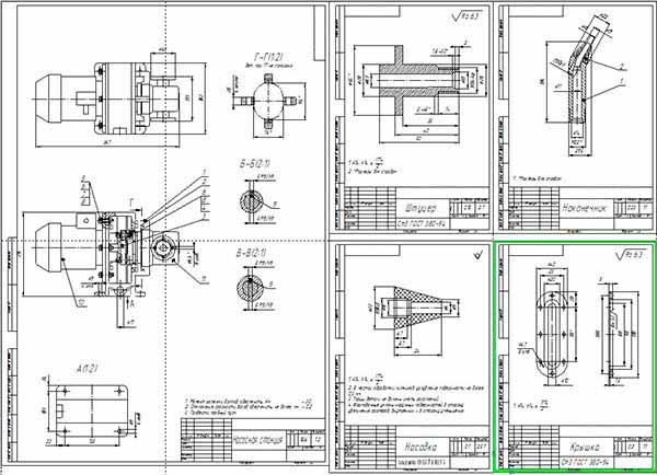 Деталировка установки для замены масла в ДВС