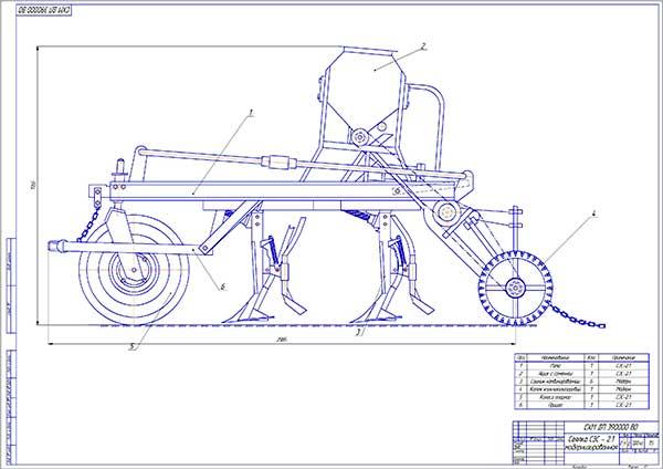 Общий вид модернизированной сеялки СЗС-2.1