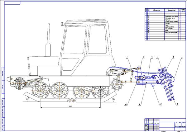 проект гусеничного трелевочного трактора ЛБ – 1 на базе сельскохозяйственного трактора МТЗ-80